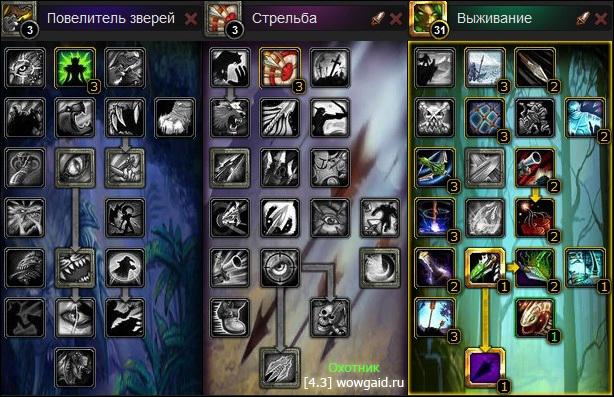 Гайд по Охотнику Выживание 4.3 (wowgaid.ru)