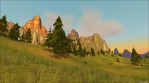 Мулгор, вид на Красные скалы