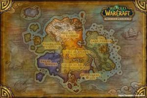 Карта Пандарии WoW Mists of Pandaria