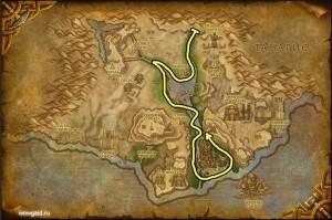 Карта травы в Ульдуме, маршрут