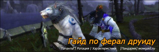 Гайд по ферал друиду 5.4 ПвЕ