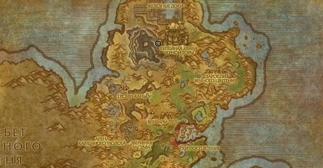 Литейная клана Черной горы на карте