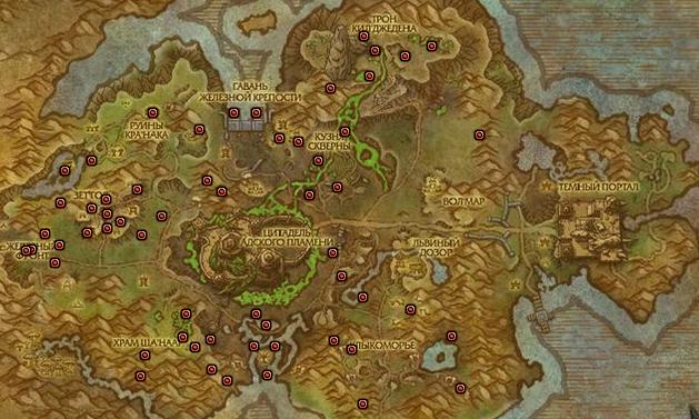 Карта местонахождения рарников