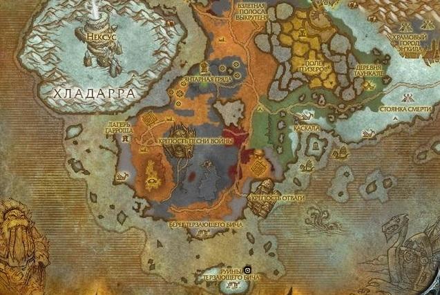 Бурчаль карта