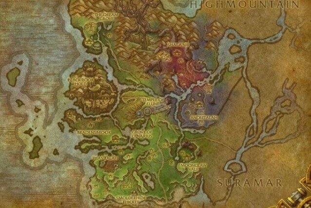 Вальшара карта локации