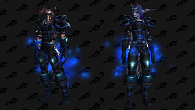 Синяя сталь - трансмогрификация Охотник на демонов