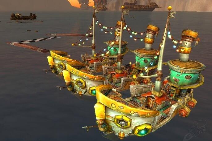 Битва лодок в Тысяче Игл событие в WOW