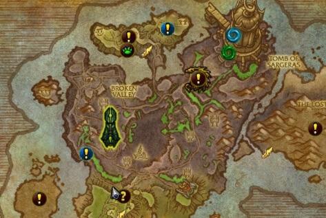 Карта эвентов Расколотого берега 7.2