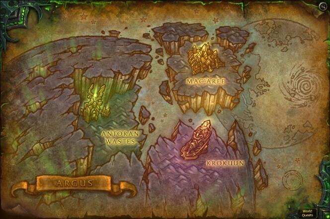 Карта Аргуса WOW 7.3