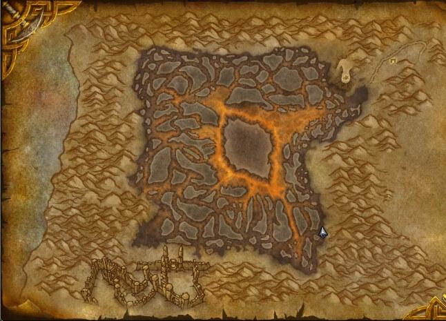 Карта локации Силитус: рана