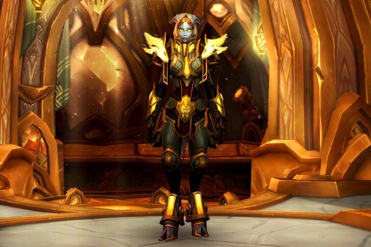 Женская модель персонажа расы Озаренных дренеев