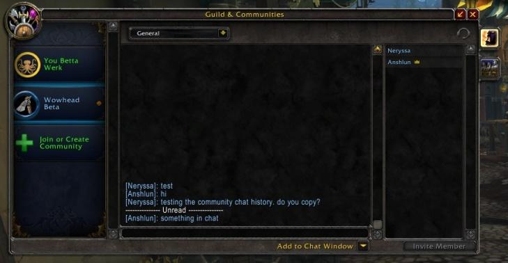 Новый интерфейс сообществ в патче 8.0