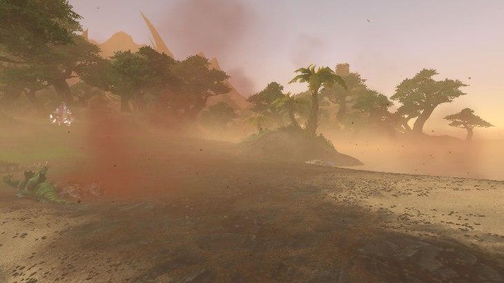 Песчаная буря во время Островной экспедиции