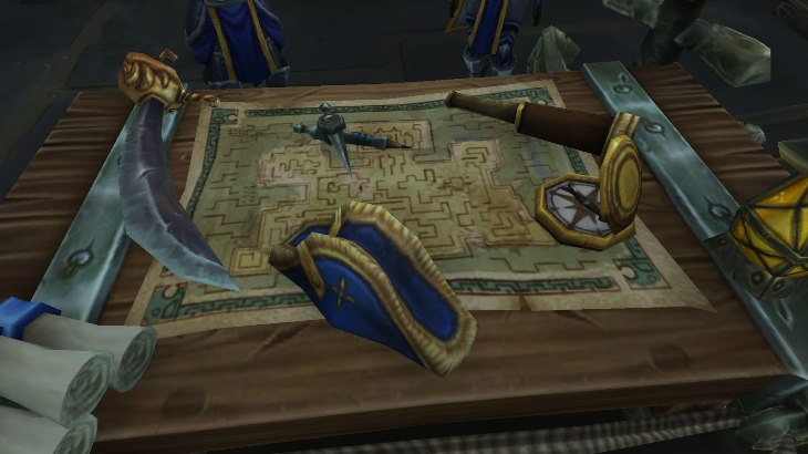Улучшение командирского стола в Битве за Азерот