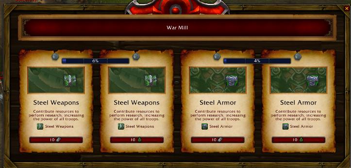 Улучшение оружия и доспехов солдат на фронте