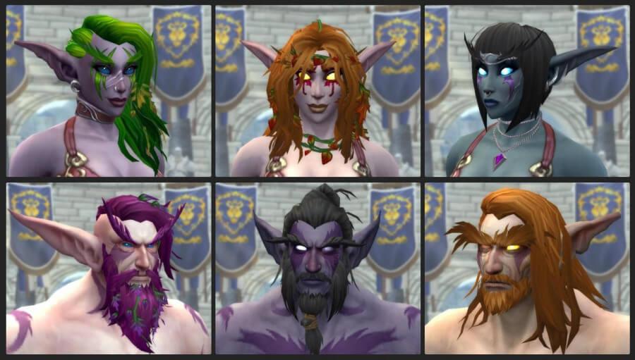 Кастомизация персонажей в Shadowlands
