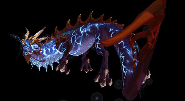 Грозовой синий змей, пет ханта в WoW