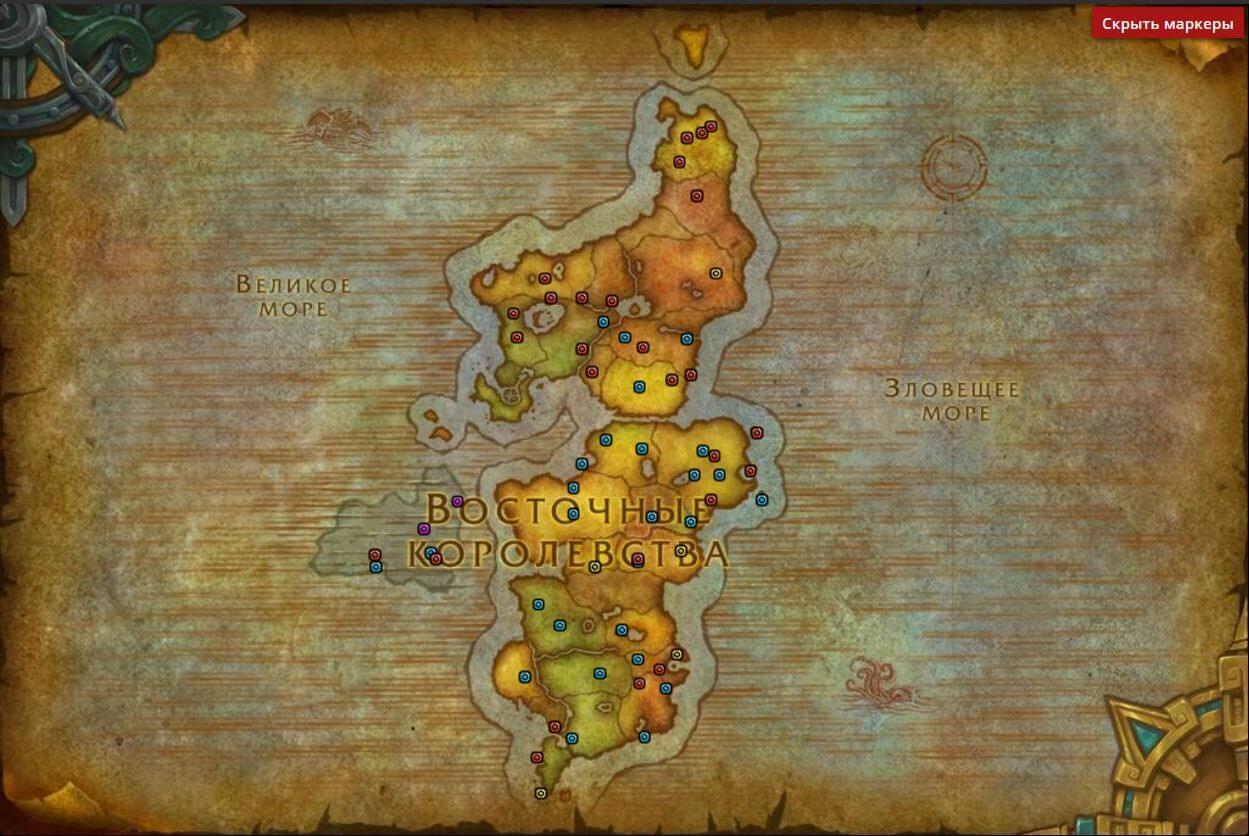 Карта Тыквовина в Восточных королевствах