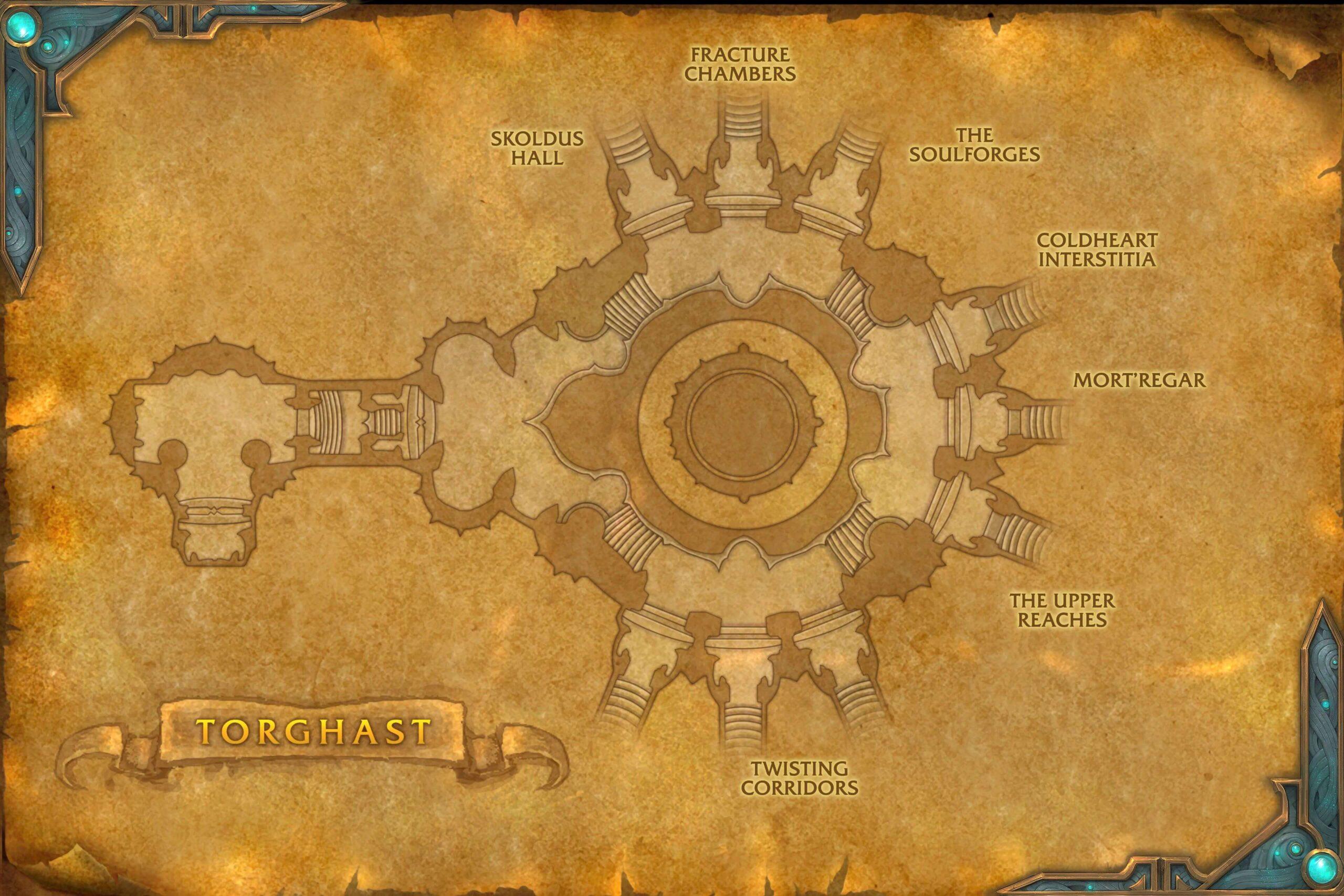 Карта с кварталами Торгаста