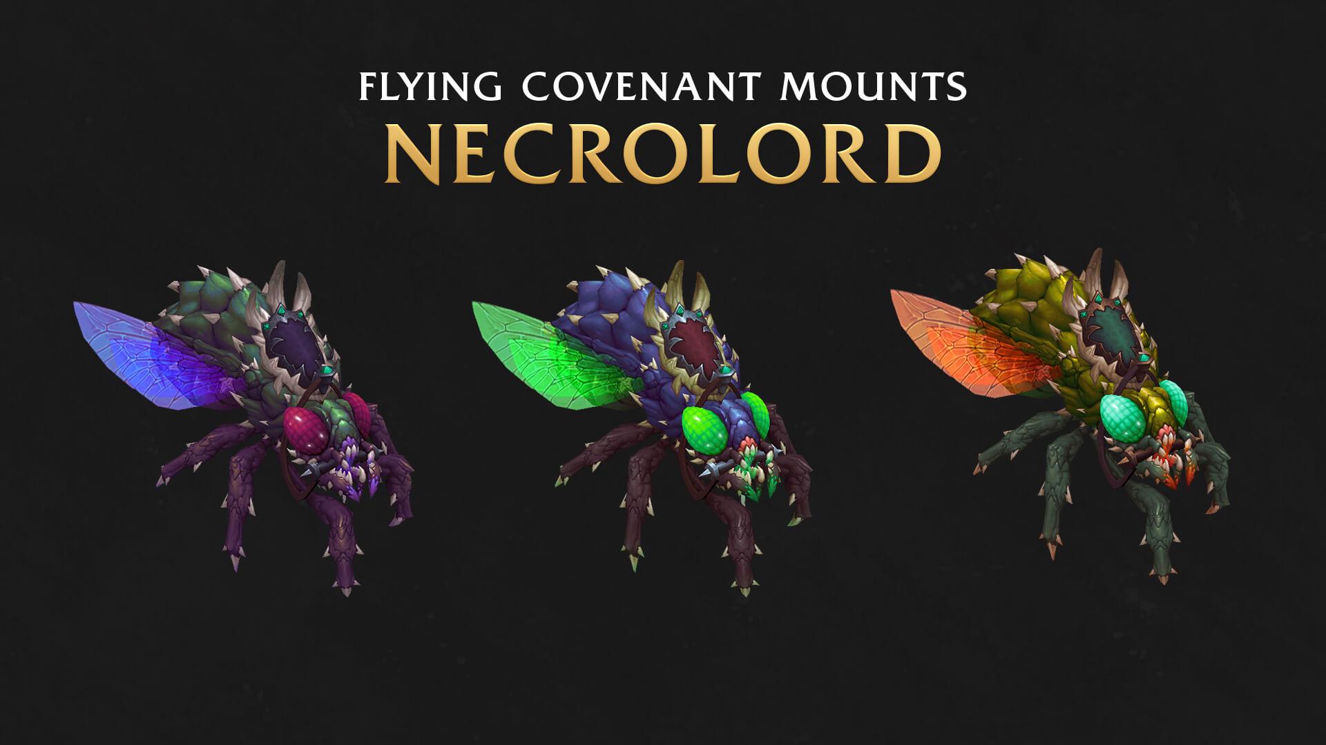 Летающие маунты ковенанта Некролордов