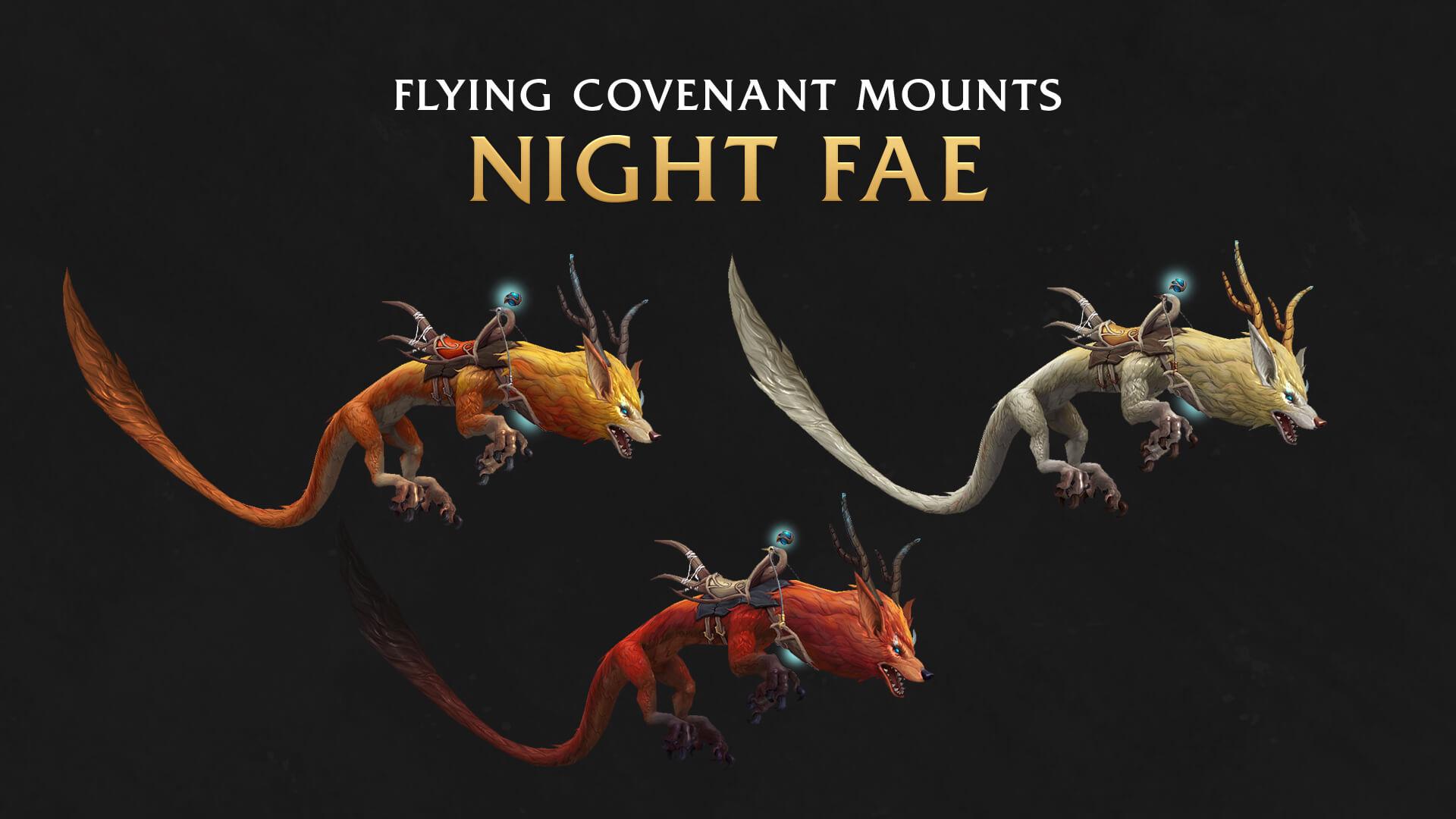 Летающие маунты ковенанта Ночного народца