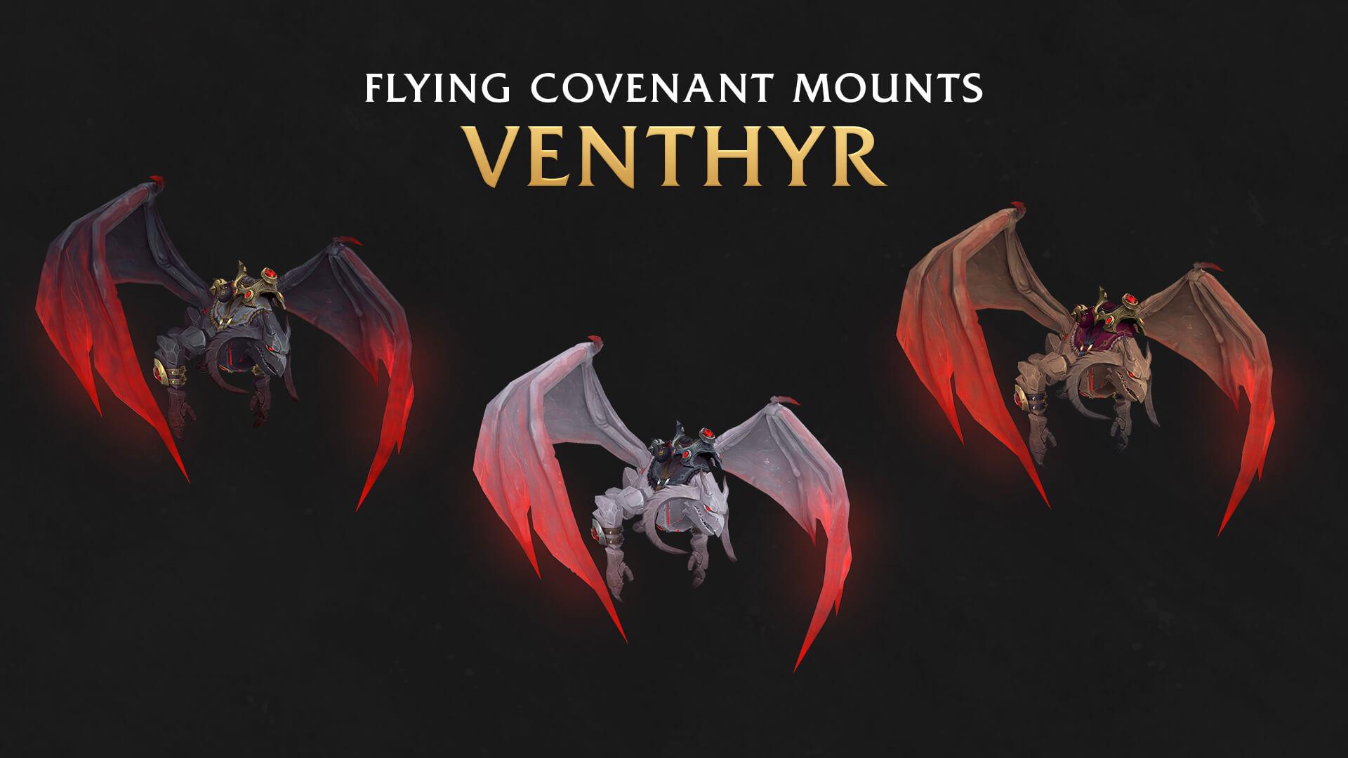 Летающие маунты ковенанта Вентиров